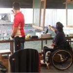 Atleti in gara -  gran premio paralimpico pistola